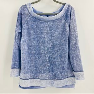 Lori + Mari Blue and White Top in Size Large